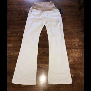 Gap maternity long lean new white denim jeans 28 6